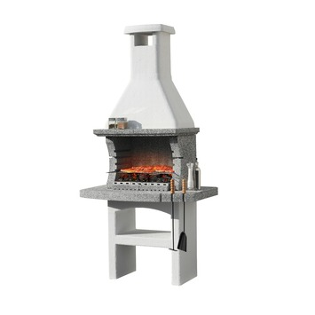 Betonnen Barbecue Karwei.Barbecue Beton Touareg Special Wit Met Grijs