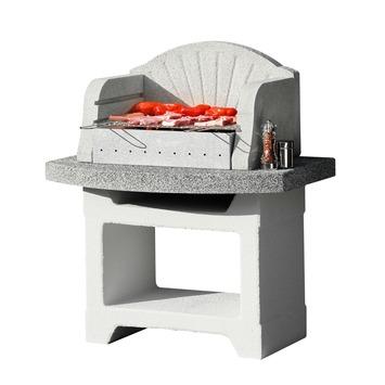Betonnen Barbecue Karwei.Barbecue Beton Palma Special Wit Met Grijs