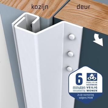 Secu anti-inbraakstrip Plus achterdeur SKG 1-ster 211,5 cm 21-27 mm wit