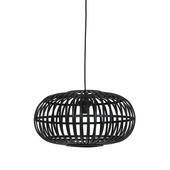 Hanglamp Indy bamboe zwart klein Ø 44cm