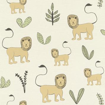 Claas vliesbehang leeuw en planten (dessin 531701)