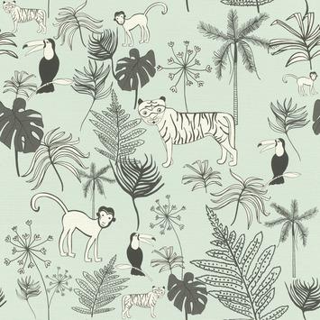 Claas vliesbehang jungle lichtgroen (dessin 531800)
