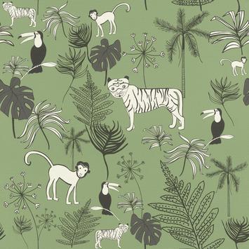 Claas vliesbehang jungle donkergroen (dessin 531817)