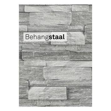 Behangstaal vliesbehang leisteen grijs (dessin 103948)