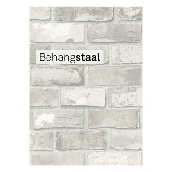 Behangstaal vtwonen vliesbehang bricks lichtgrijs (dessin 2234-04)
