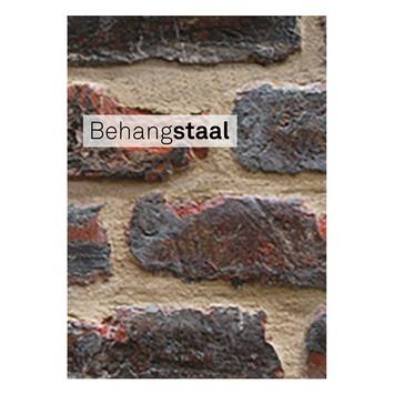 Behangstaal vliesbehang bricks rood (dessin 4001)