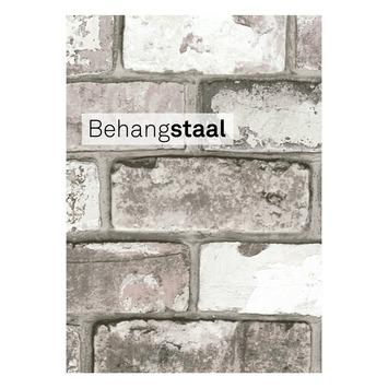 Behangstaal vliesbehang baksteen grijs (dessin 50-158)