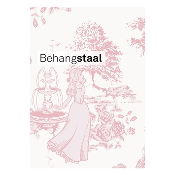 Behangstaal papierbehang princess tekening roze (dessin 70-733)
