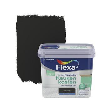 Flexa Mooi Makkelijk keukenkasten zwart zijdeglans 750 ml