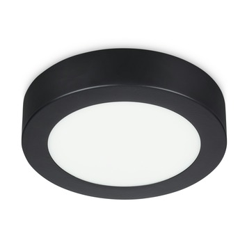 Prolight plafondlamp LED 6W rond zwart ip20