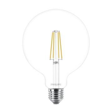 Philips LED globe E27 60W filament helder dimbaar