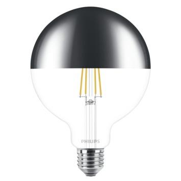 Philips LED-classic 12,5cm kopspiegel globe E27 8W(=50W) dimbaar