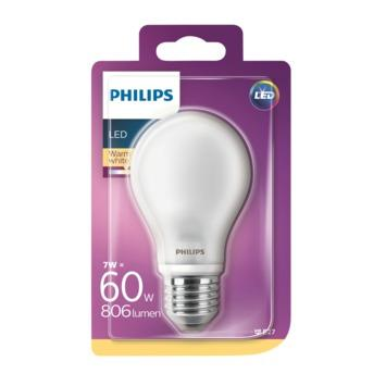 Philips LED peer frosted E27 7W (=60W)