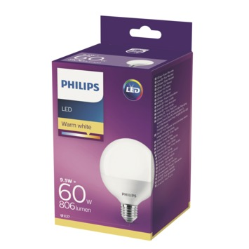 Philips ledlamp globe mat E27 10W