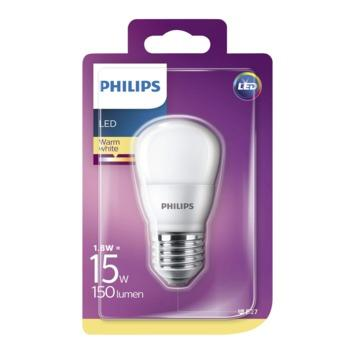 Philips LED kogel frosted E27 1,8W(=15W) 150lm warm wit