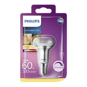 Philips LED reflector E14 4,3W(=60W) dimbaar