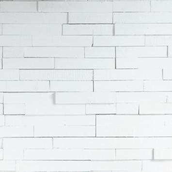 Wandbekleding WoWood plakhout wit dekkend mix (ca. 1,15 m2)