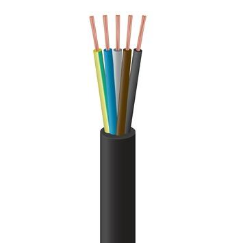 Handson Aansluitsnoer Neopreen 5 x 2,5 mm² 2,5 Meter Zwart