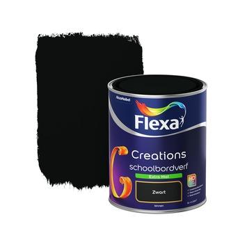 Flexa Creations schoolbordenverf extra mat true black 1 l