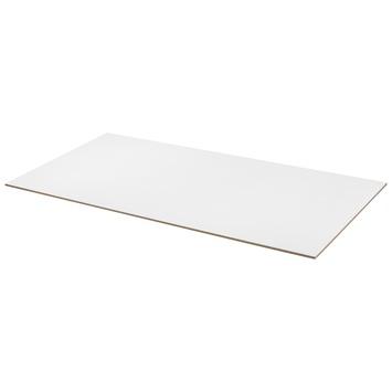 MDF plaat wit gegrond 122x61 cm dikte 8 mm