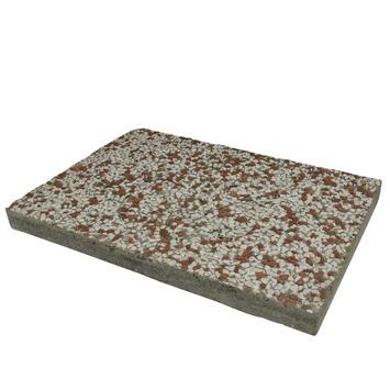 Grindtegel Wit/Rood 60x40 cm - Per Tegel / 0,24 m2