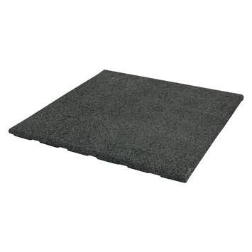 Terrastegel Rubber Zwart 50x50 cm