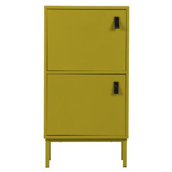 WOOOD kastje Nico mosterd geel Afm. 85x45x35 cm