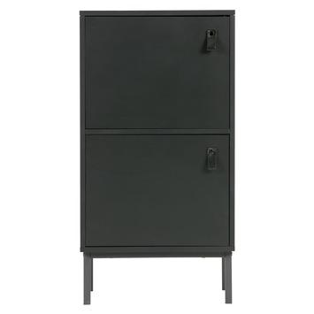 WOOOD kastje Nico zwart Afm. 85x45x35 cm