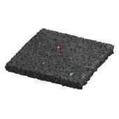 Decor tegeldrager rubber zwart 10x10x1 cm (palletvoordeel 135 stuks)