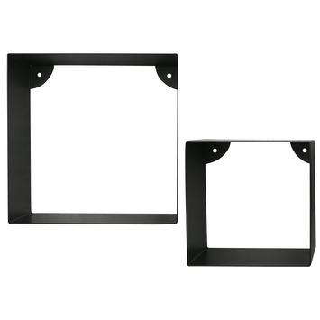Metalen kubusset zwart set 2 stuks
