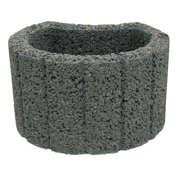 Bloembak Beton Rond Antraciet 28x35x20 cm