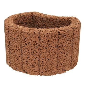 Bloembak Beton Rond Bruin 28x35x20 cm