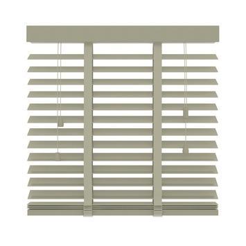 KARWEI horizontale houten jaloezie leem (945) 160 x 180 cm - 50 mm