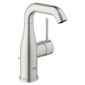 Grohe Colours Wastafelkraan Essence New M RVS met Waste