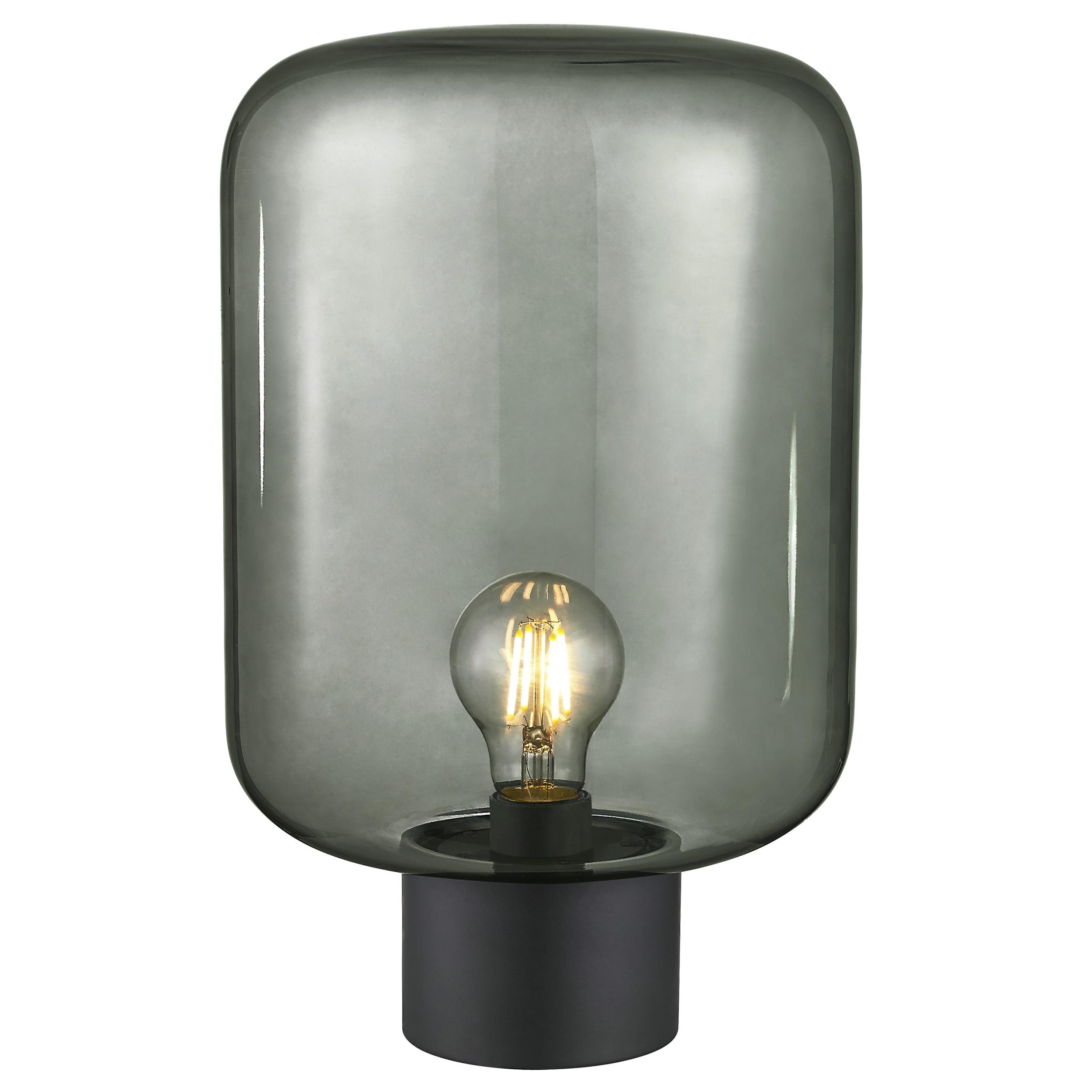 KARWEI tafellamp Juno XXL rookglas