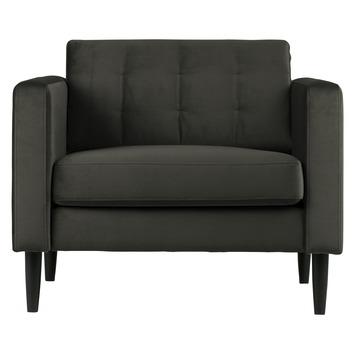 Livia fauteuil fluweel warm groen