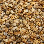 Siersplit Safari geel nuance 7-15 mm (zak 20 kg = ca. 15 ltr)