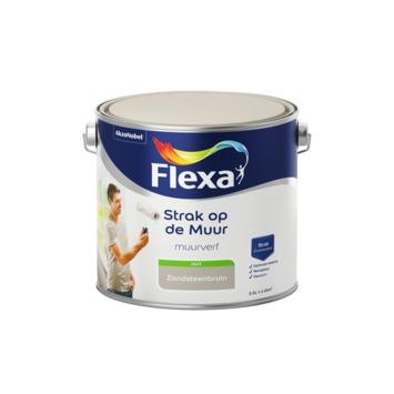 Flexa Strak op de muur zandsteenbruin mat 2,5 liter