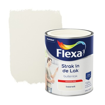 Flexa Strak in de Lak hoogglans ivoorwit 750 ml
