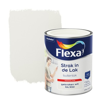 Flexa Strak in de Lak hoogglans gebroken wit 750 ml