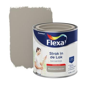 Flexa Strak in de lak voor binnen schorsbruin hoogglans 250 ml
