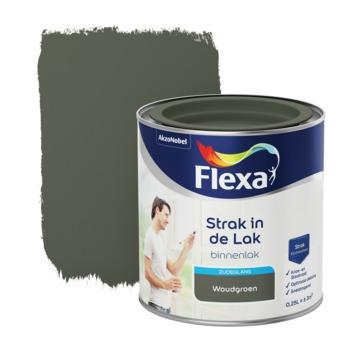 Flexa Strak in de lak voor binnen woudgroen zijdeglans 250 ml