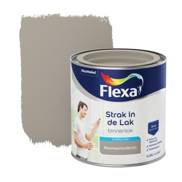 Flexa Strak in de lak voor binnen schorsbruin zijdeglans 250 ml