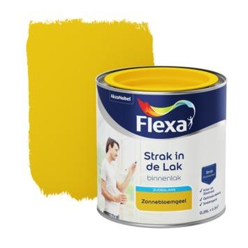 Flexa Strak in de lak voor binnen zonnebloemgeel zijdeglans 250 ml