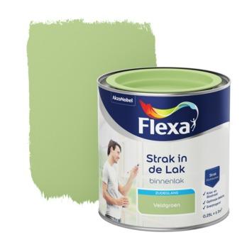 Flexa Strak in de lak voor binnen veldgroen zijdeglans 250 ml