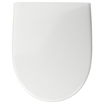Pressalit D-vorm WC bril Wit Kunststof met Softclose