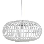 Hanglamp Indy bamboe wit klein Ø 44cm