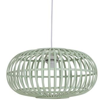 Hanglamp Indy bamboe groen klein Ø 44cm