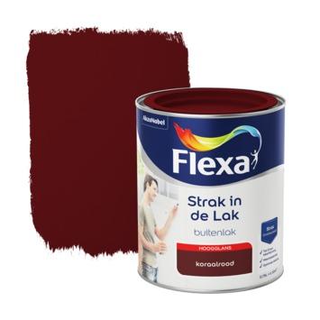 Flexa Strak in de Lak hoogglans koraalrood 750 ml