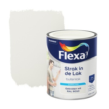 Flexa Strak in de Lak zijdeglans gebroken wit 750 ml